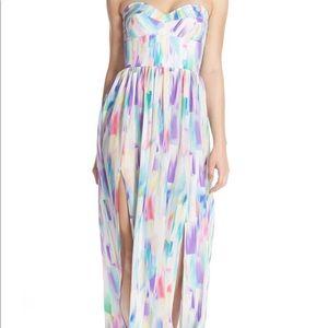 Amanda Uprichard Strapless Maxi Dress